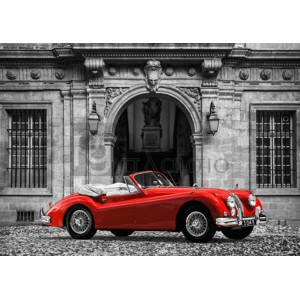 Gasoline Images - Luxury Car in front of Classic Palace