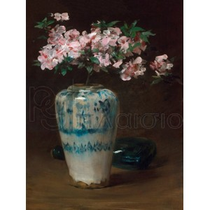 William Merritt Chase - Pink Azalea-Chinese Vase