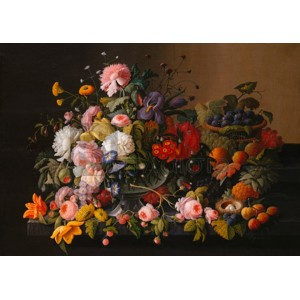 Severin Roesen - Flowers and Fruits