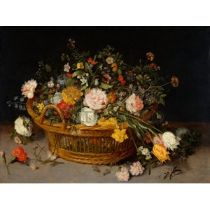 Jan Bruegel The Younger - A Basket of Flowers