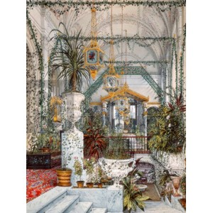 Konstantin Andreyevich Ukhtomsky - Interiors of the Winter Palace: the Winter Garden