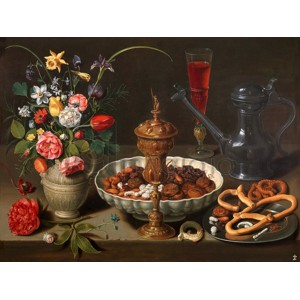 Clara Peeters - Still Life of Flowers and Dried Fruit
