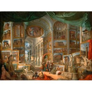 Giovanni Paolo Panini - Galleria con vedute di Roma antica