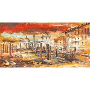 Luigi Florio - Tramonto su Roma