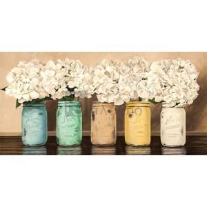 Jenny Thomlinson - Hydrangeas in Mason Jars