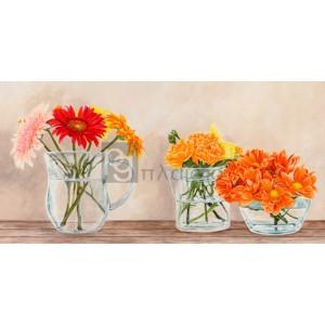 Remy Dellal - Fleurs et Vases Jaune