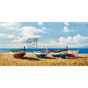 Pierre Benson - Boats on the Beach