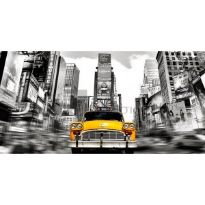 Julian Lauren - Vintage Taxi in Times Square, NYC