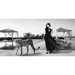 Julian Lauren - Woman with Cheetah